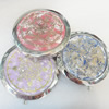 Zinc Alloy Grooming Mirror, Flat Round, Mix style, diameter:70mm, Sold by PC