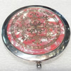 Zinc Alloy Grooming Mirror, Flat Round, diameter:70mm, Sold by PC