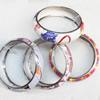 Iron Bracelet, Mix color & Mix style, width:21mm, Inner diameter:70mm, Outside diameter:83mm, Sold by Dozen