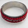 Iron Bracelet, width:24mm, Inner diameter:68mm, Outside diameter:80mm, Sold by Dozen