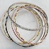 Iron Bracelet, width:2-5mm, Inner diameter:68mm, Outside diameter:72mm, Sold by Dozen