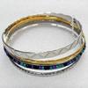 Iron Bracelet, width:3-6mm, Inner diameter:68mm, Outside diameter:61mm, Sold by Dozen
