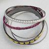Iron Bracelet, width:3-15mm, Inner diameter:65mm, Outside diameter:72mm, Sold by Dozen
