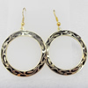 Cloisonne Earring, Donut, 37x53mm, Sold by Pair