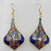 Cloisonne Earring, 24x54mm, Sold by Pair