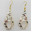 Cloisonne Earring, 18x50mm, Sold by Pair