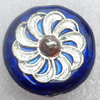 Cloisonne Beads, Flat Round, 17x7mm, Hole:Approx 1.5mm, Sold by PC