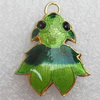 Cloisonne Pendant, Fish, 22x28x5mm, Hole:Approx 3mm, Sold by PC