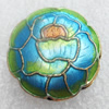 Cloisonne Beads, Flower, 19x7mm, Hole:Approx 1.5mm, Sold by PC