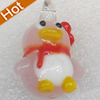 Handmade Lampwork Pendant, 18x25mm, Hole:Approx 2mm, Sold by PC