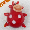 Handmade Lampwork Pendant, Cow, 20x25mm, Hole:Approx 2mm, Sold by PC