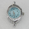 Fashional Watch Face,Zinc Alloy, 30x18mm, Sold by PC