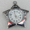 Fashional Watch Face,Zinc Alloy, 34x32mm, Sold by PC