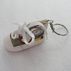 Key Chain With Watch, Shoes 74x35x40mm, Sold by PC