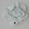 Porcelain Cabochons, No Hole Headwear & Costume Accessory, Flower size:47x47mm Hole:8x4mm, Sold by PC