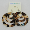 Acrylic Earrings, Flat Round 44mm, Sold by Group