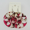 Acrylic Earrings, Flat Round 49mm, Sold by Group
