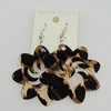 Acrylic Earrings, Flower 49mm, Sold by Group