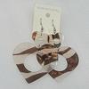 Acrylic Earrings, Heart 56x51mm, Sold by Group
