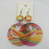 Acrylic Earrings, Flat Round 52mm, Sold by Group
