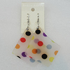 Acrylic Earrings, Nugget 64x54mm, Sold by Group