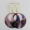 Acrylic Earrings, Flat Round 60mm, Sold by Group