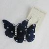 Acrylic Earrings, Butterfly 59x40mm, Sold by Group