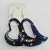 Acrylic Earrings, Heart 62x54mm, Sold by Group