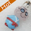 Handmade Lampwork Pendant, Man, 16x30mm, Hole:Approx 3mm, Sold by PC