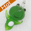 Handmade Lampwork Pendant, Frog, 20x32mm, Hole:Approx 3mm, Sold by PC