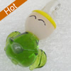 Handmade Lampwork Pendant, 15x25mm, Hole:Approx 3mm, Sold by PC