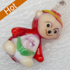 Handmade Lampwork Pendant, 17x32mm, Hole:Approx 3mm, Sold by PC