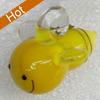 Handmade Lampwork Pendant, Bee, 18mm, Hole:Approx 3mm, Sold by PC