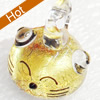 Handmade Lampwork Pendant, 16x19mm, Hole:Approx 3mm, Sold by PC