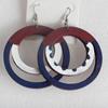 Wooden Earring, 60x80mm, Sold by Dozen