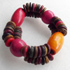 Coconut Shell Bracelet, width about:25mm, Length:Approx 8.26-inch, Sold by Dozen