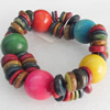 Coconut Shell Bracelet, width about:22mm, Length:Approx 7.5-inch, Sold by Dozen