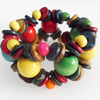 Coconut Shell Bracelet, width about:33mm, Length:Approx 7.5-inch, Sold by Dozen