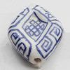Ceramics Beads, Diamond 28x23mm Hole:2.5mm, Sold by Bag