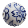 Ceramics Beads, Round 16mm Hole:2.5mm, Sold by Bag