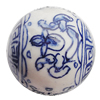 Ceramics Beads, Round 24mm Hole:2.5mm, Sold by Bag