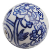 Ceramics Beads, Round 25mm Hole:2.5mm, Sold by Bag