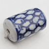 Ceramics Beads, Column 9x14mm Hole:2.5mm, Sold by Bag