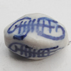 Ceramics Beads, Twist Faceted Oval 9x15mm Hole:2.5mm, Sold by Bag