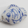 Ceramics Beads, Fish 12x16mm Hole:2.5mm, Sold by Bag