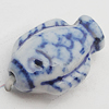 Ceramics Beads, Fish 11x17mm Hole:2.5mm, Sold by Bag