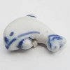 Ceramics Beads, Dolphine 14x20mm Hole:2.5mm, Sold by Bag