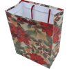 Gift Shopping Bag, Material:Paper, Size: about 30cm wide, 39cm high, 10.5cm bottom wide, Sold by Box