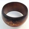 Wood Bracelet, width:40mm, Inner diameter:65mm, Outside diameter:80mm, Sold by Dozen