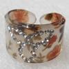 Resin Ring, 17mm, Ring:20mm inner diameter, Sold by Box
